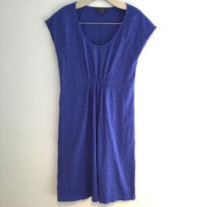 TOMMY BAHAMA DRESS XS Blue Scoop Neck Midi